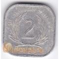 2 цента. 1986 г. Карибские острова. 11-2-18