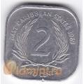 2 цента. 1989 г. Карибские острова. 11-2-20