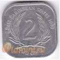 2 цента. 1993 г. Карибские острова. 11-3-1