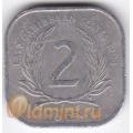 2 цента. 1994 г. Карибские острова. 11-3-2