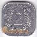2 цента. 1995 г. Карибские острова. 11-3-3