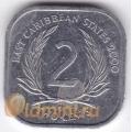 2 цента. 2000 г. Карибские острова. 11-3-8