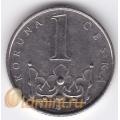 1 крона. 2000 г. Чехия. 11-4-281