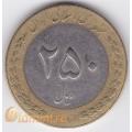 250 риалов. (1993–2003 гг.) Иран. 11-4-319