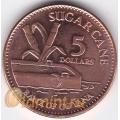 5 долларов. 2012 г. Гайана. 18-4-32