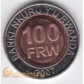 100 франков. 2007 г. Руанда. 18-4-53