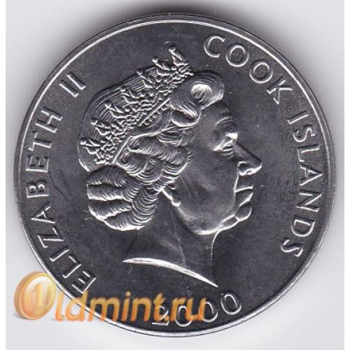 Монета 5 центов острова кука 2000 г, фао