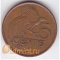 5 центов. 1997 г. Тринидад и Тобаго. Райская птица. 18-4-138