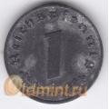 """1 рейхспфенниг. 1942 г. """"A"""". Третий Рейх. 8-1-247"""
