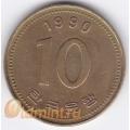 10 вон. 1990 г. Южная Корея. 11-1-7
