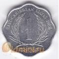 1 цент. 1989 г. Карибские острова. 11-2-6